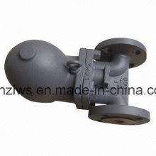 Trampa de vapor de flotador de bola con extremo de brida de acero fundido FT43