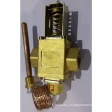 Válvula de flujo de agua de control de temperatura de latón