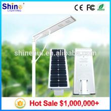 Top 1 China Fornecedores Tudo em uma luz de rua solar, 12v solar 30w levou luz de rua, vila verde luzes solares