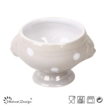 Tasse en céramique à pois gris de 1000 ml
