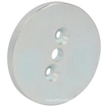 Big Round Permenent Magnet with Three Holes