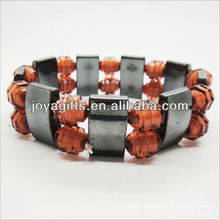 01B5009-5/new products for 2013/hematite spacer bracelet jewelry/hematite bangle/magnetic hematite health bracelets