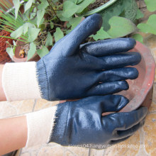 Fully Dipped Blue Nitrile Gloves Coating Protective Safety Work Glove