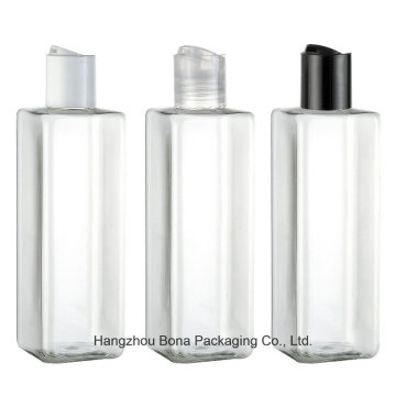 Botella cuadrada para mascotas botella transparente para botellas de 250 ml para mascotas