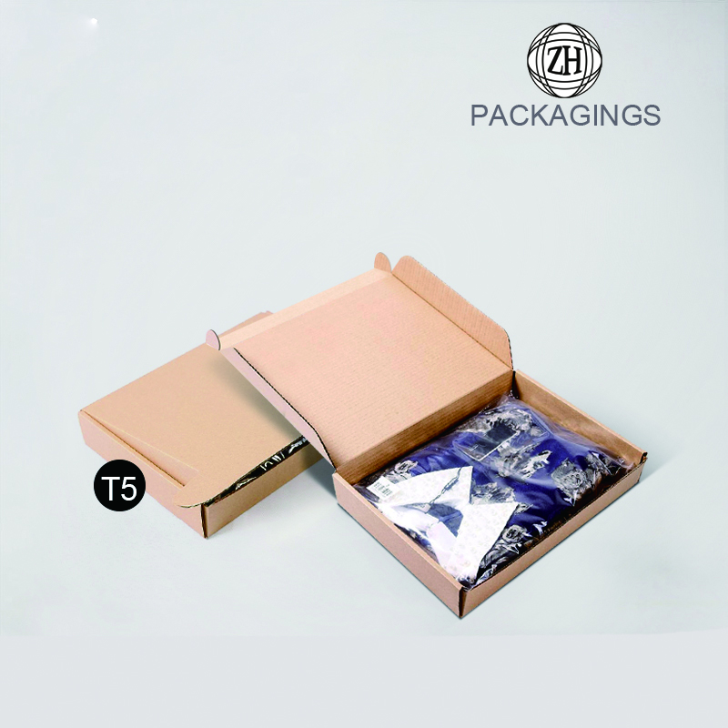 New designed e flute paper shipping box