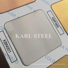 201 cor de prata de aço inoxidável No. 4 Kbn001 folha