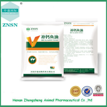 Aceite de hígado de bacalao de alta calidad Aceite de pescado de suplementación de calcio