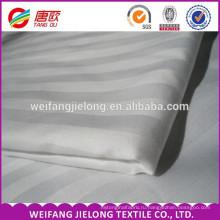 отель постельные принадлежности постельное белье/сатин полоса ткани для постельного белья/простыня ткань Китай поставщик 100% хлопок сатин полоса ткани гребенного