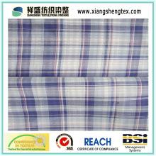 Tecido de algodão 100% algodão Fiado-Dyed para a camisa (50s * 50s)