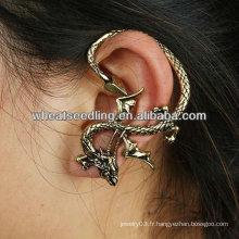 Vente en gros Unique Vintage Dragon Design oreille manchette bijoux EC61