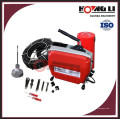 D150 máquina de limpieza de tuberías de taladro eléctrico / máquina de limpieza de drenaje de barrena CE