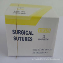 absorbable plain catgut sutures 75cm with needle