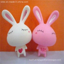 Brinquedo do bebê do coelho do branco do vinil do PVC