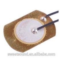 Fábrica de dongguan piezo cerámica 15mm 4.0khz de baja potencia elemento piezoeléctrico