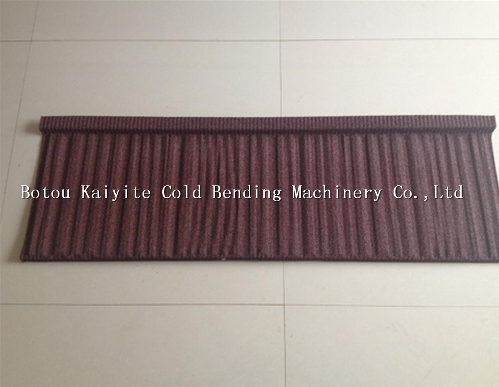 Brown Color Weatherproof Stone Coated Metal Roof Tile