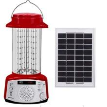 Linterna solar con radio y función de reproducción de MP3