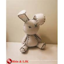 Cumplir EN71 y ASTM estándar ICTI peluche de juguete de peluche de peluche de juguete conejo blanco