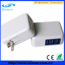 3 Port Adapter USB /Travel AC Power Wall Charger