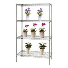 Chrome ajustável greenhouse Wire Racking para a flor (CJ7535180A4C)