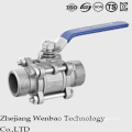 3PC External Male Thread Quick Installed Full Port Ball Valve