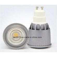 GU10 7W 85-265V Blanco COB LED Proyector