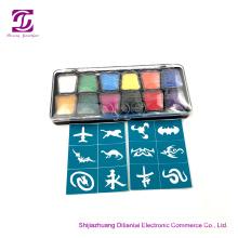 Kit de pintura para la cara corporal con arco iris a base de agua