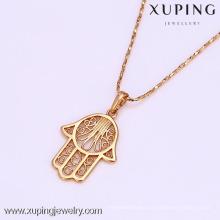 31506-Xuping New Propular Hamsa Symbol Hand Pendant Jewelry