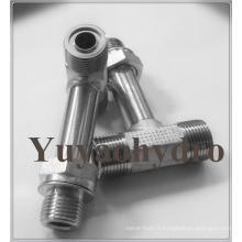 Raccords hydrauliques spéciaux avec écrou extra long ajustable