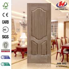 Лучший дизайн и очень глубокая 12мм дверная обшивка с обработанной кожей ворот грецкого ореха