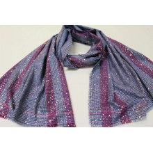 foil gold print Pashmina scarf  fringe on four side super soft hand feeling