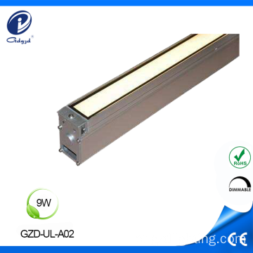 Ao ar livre colorido recesso 9W Linear Inground Light