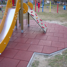 Outdoor Playground Colorful Rubber Bricks Flooring