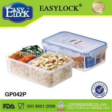 Plastic food container multi-compartment microwave box