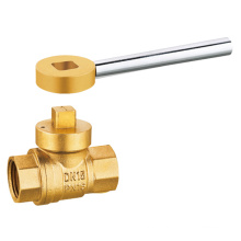 J2043 Brass Magnetic Lockable Ball Valve / Locking valve