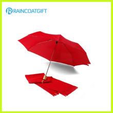 Paraguas plegable de tamaño de bolsillo a prueba de viento (RUM-041)