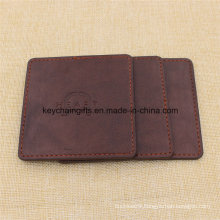 Promotion Gifts Custom Square Leather Drink Coasters