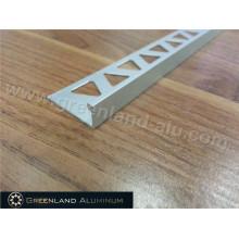Perfil em alumínio L Forma Tira Decoração Trim Prata