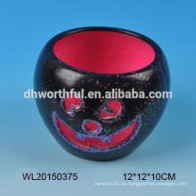 Regalo de Halloween candelabro de cerámica