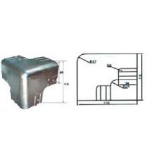 Protetor de canto em aço e aço inox para caminhão e reboque