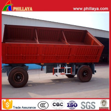 Full Small Farm Side Dump Tipper 4 Wheels Trailer