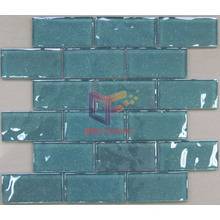 Wall Used Tile Blue Glass Brick Mosaic Tiles (CFC281)
