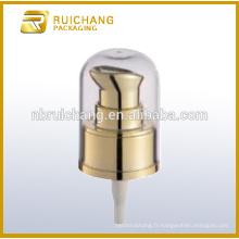 Pompe en lotion de revêtement UV en plastique avec AS overcap 20mm pompe à crème pour bouteille