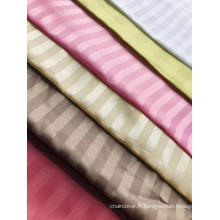 tissu jacquard dobby à rayures de polyester de différentes couleurs