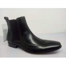 Mens Ankle Boots Elastic Band Preto Nx 535