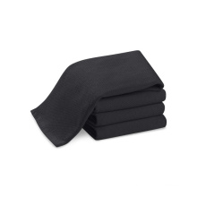 barber shop black towels