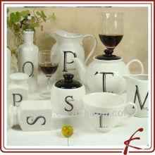 Nueva vajilla de porcelana de cerámica de la porcelana del diseño al por mayor del vajilla
