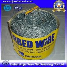 Fil barbelé en PVC pour clôture de sécurité avec SGS