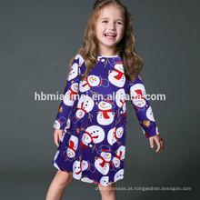 Roupa impressa colorida profissional da criança do vestido do desgaste da menina do Natal