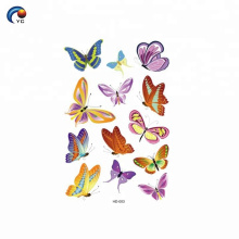 CMYK body temporary tattoo sticker for women