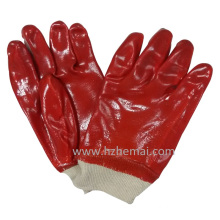 Fully Dipped Red PVC Gloves Safety Industrial Work Glove